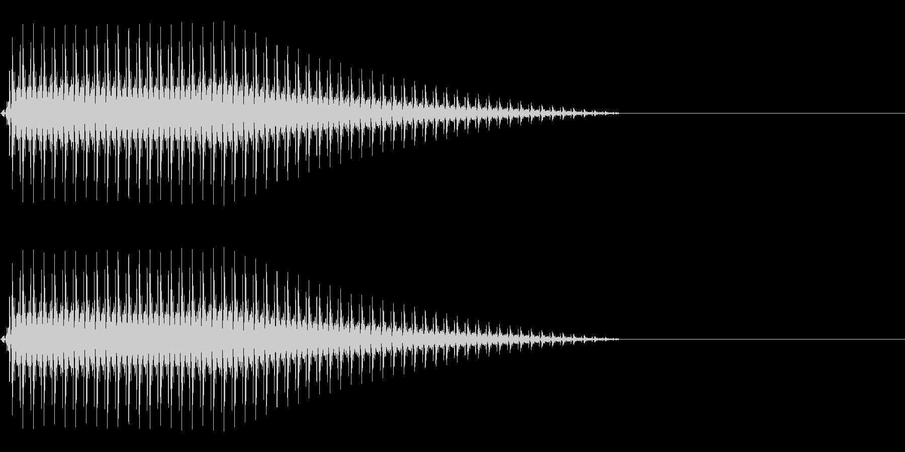OctaveCom アプリ用タッチ音1の未再生の波形
