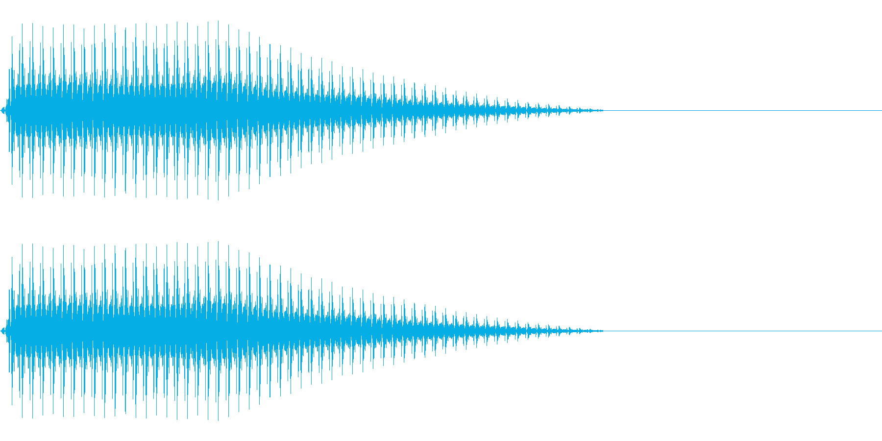 OctaveCom アプリ用タッチ音1の再生済みの波形