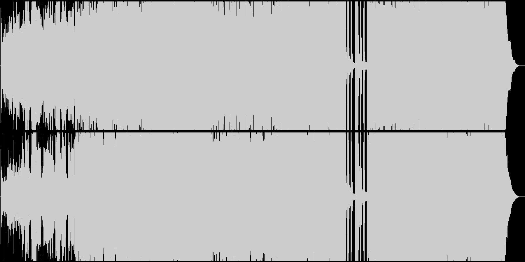生演奏。切ない系4つ打ちポップロックの未再生の波形