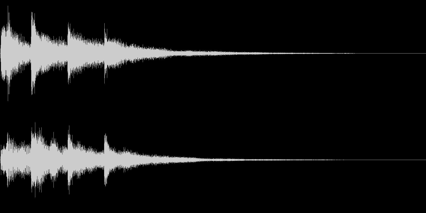 ハープ系の場面転換、転回音 シーンの切替の未再生の波形