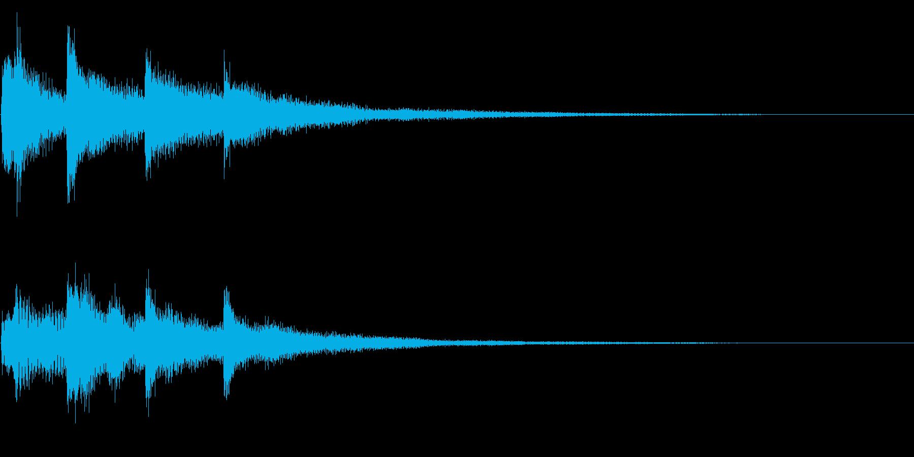 ハープ系の場面転換、転回音 シーンの切替の再生済みの波形