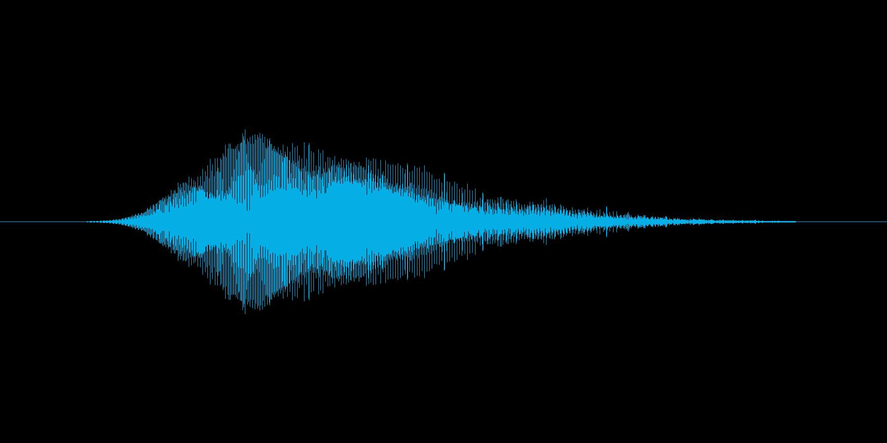 ニャーの再生済みの波形