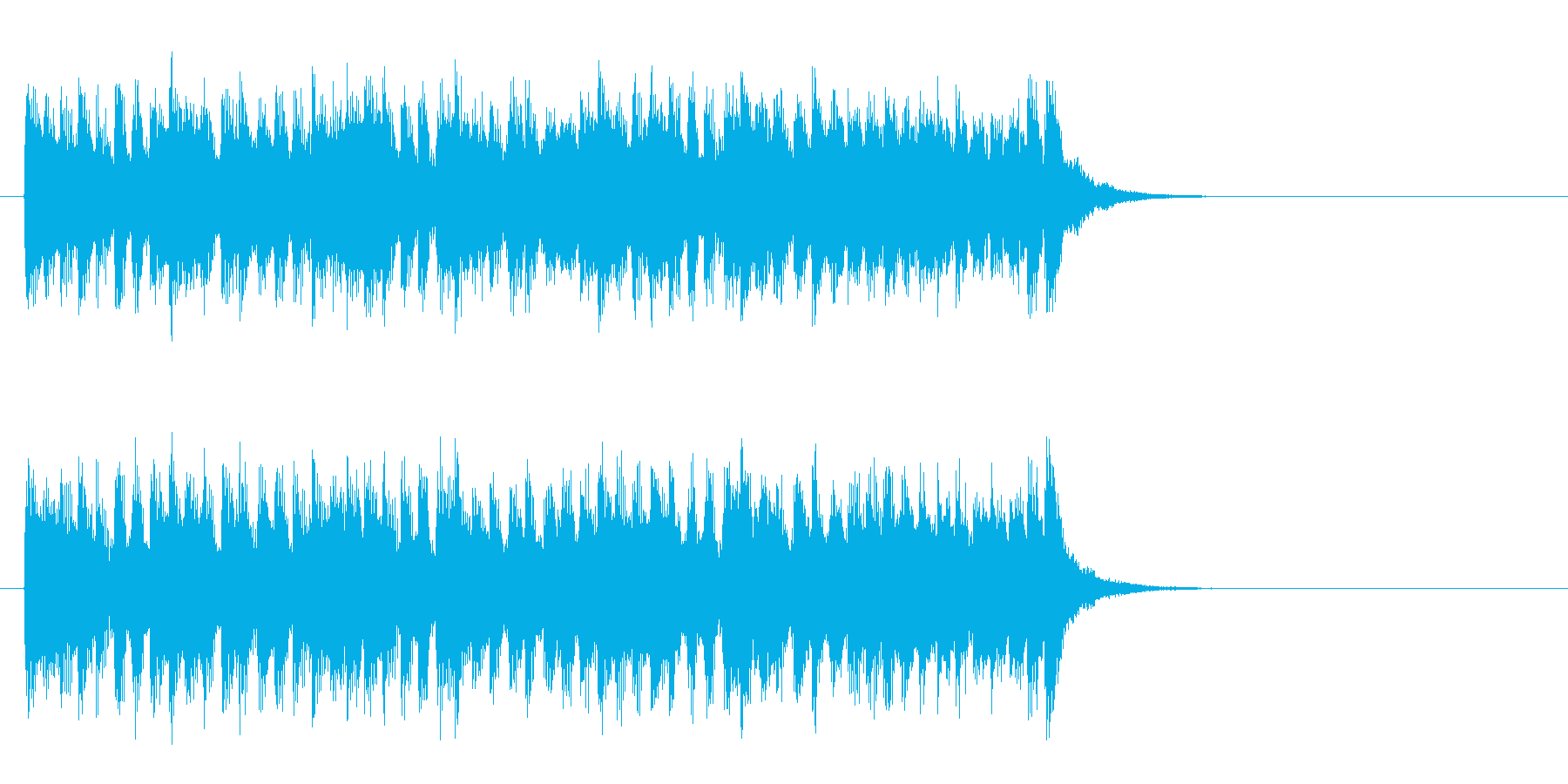 爽やかなミディアムポップ(サビ)の再生済みの波形