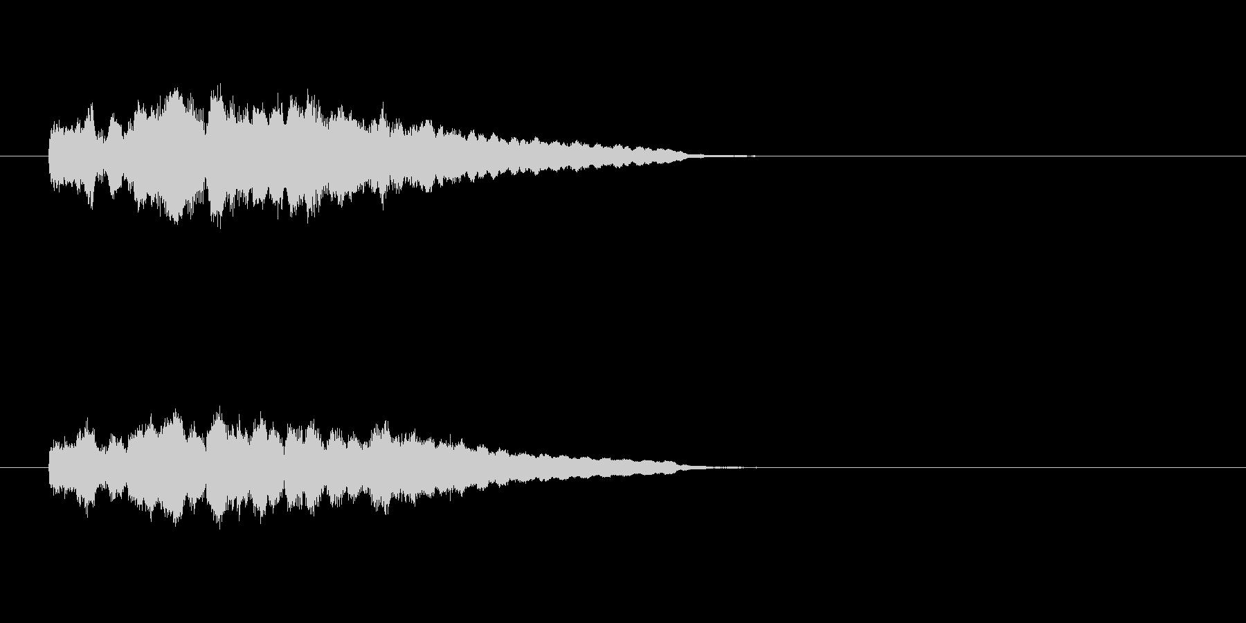 ジングル(軽やかコーナーアタック風)の未再生の波形