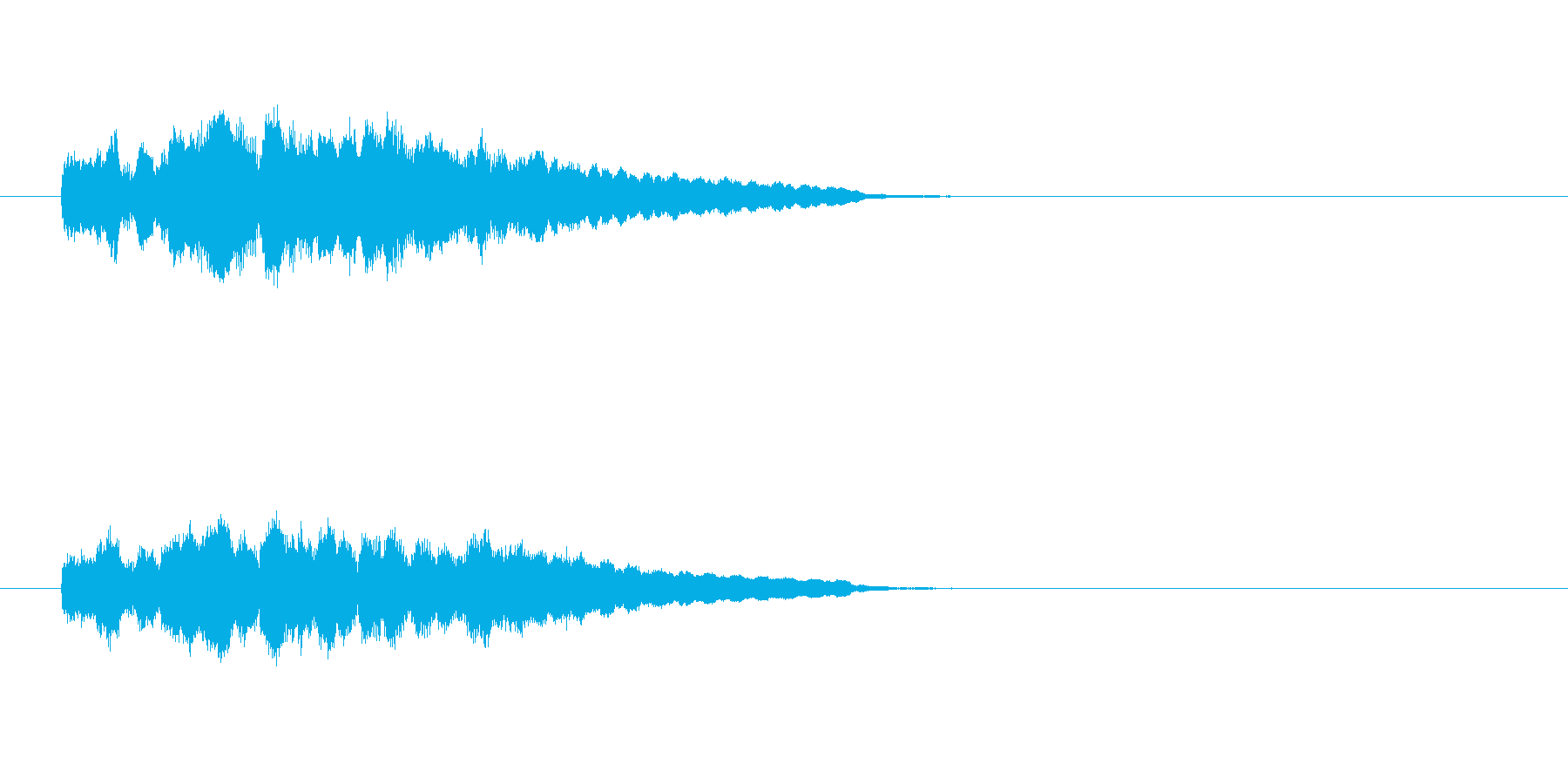 ジングル(軽やかコーナーアタック風)の再生済みの波形
