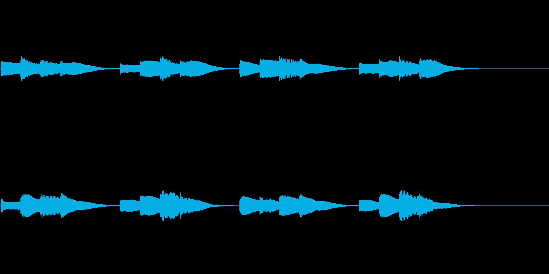 チャイム 学校の再生済みの波形