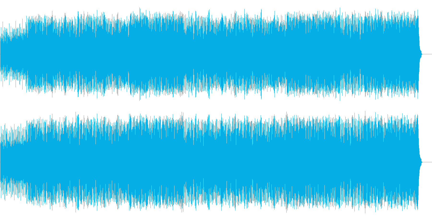 思わずノッてしまう元気なポップ/テクノの再生済みの波形