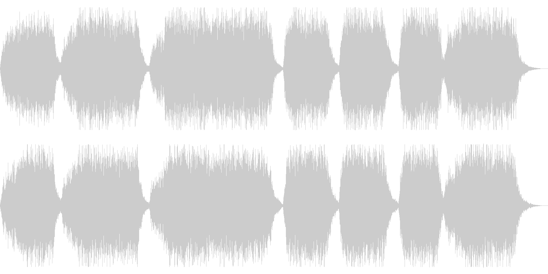 ホラー向け ダークな合唱入りBGMの未再生の波形