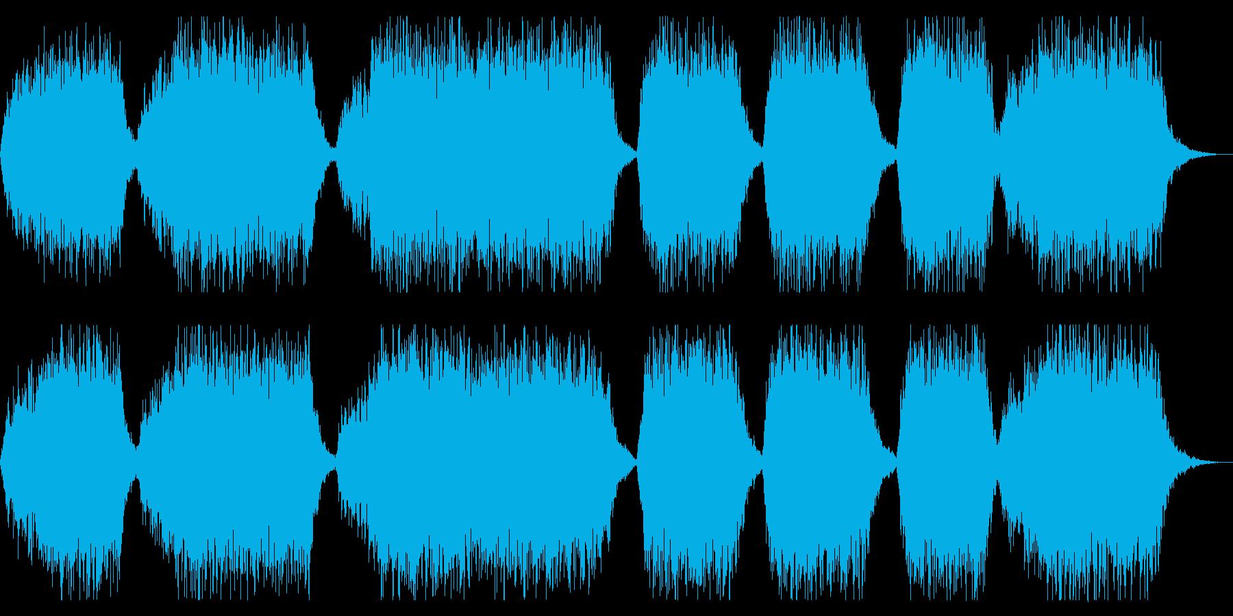 ホラー向け ダークな合唱入りBGMの再生済みの波形