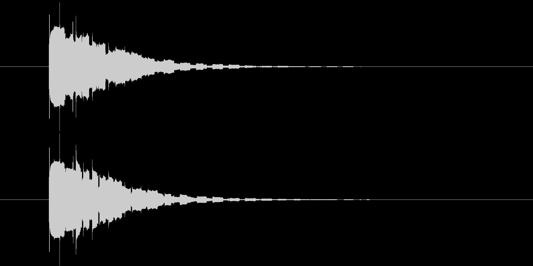 ピコーンの未再生の波形