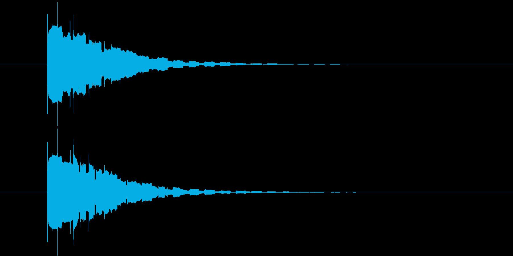 ピコーンの再生済みの波形