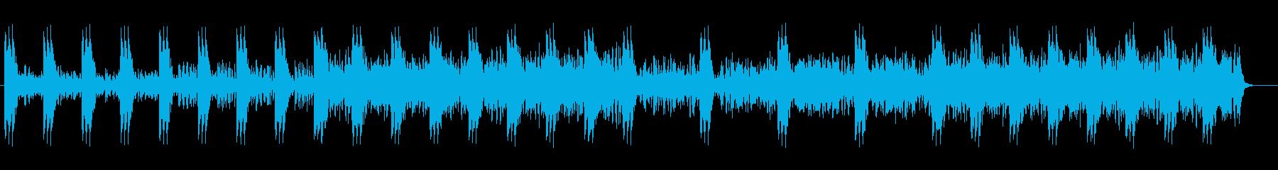 近未来感がありユニークなテクノの再生済みの波形
