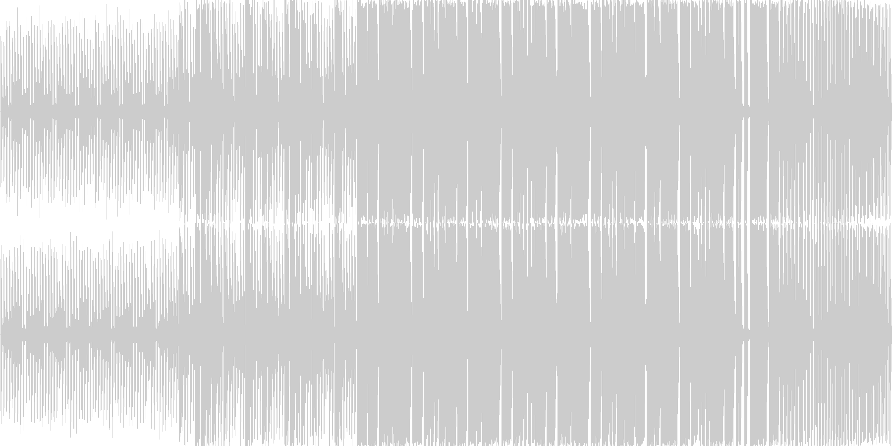 【ポップでキュートなダブステップ】の未再生の波形