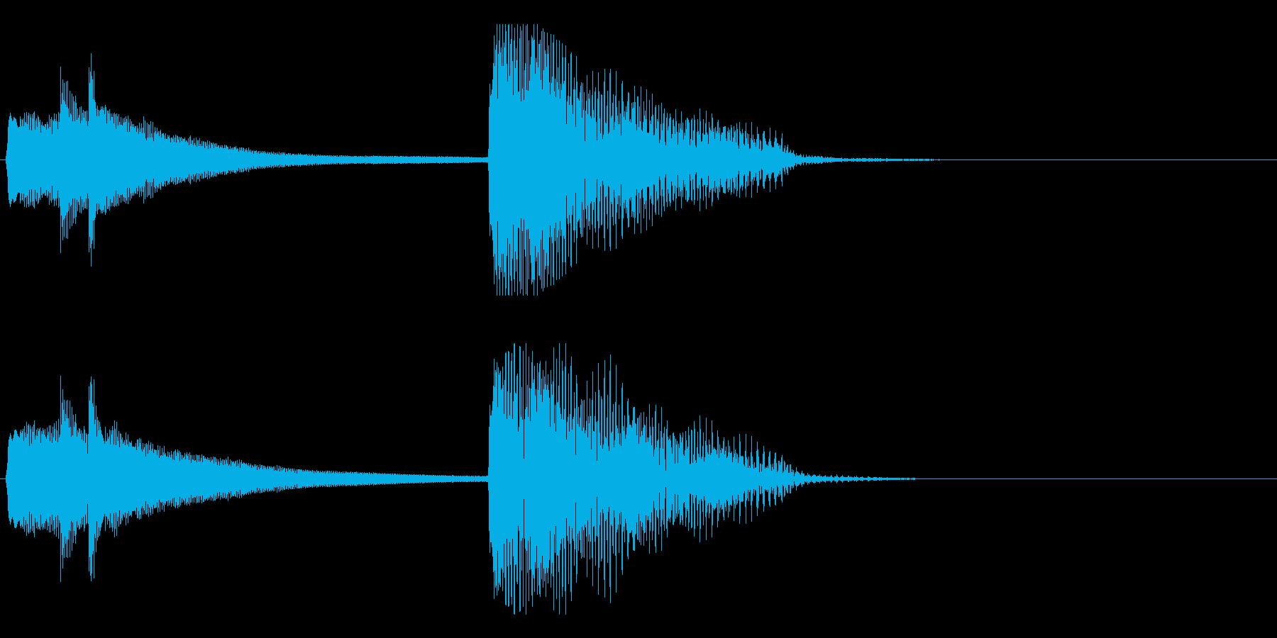 ハープによるアイキャッチの再生済みの波形