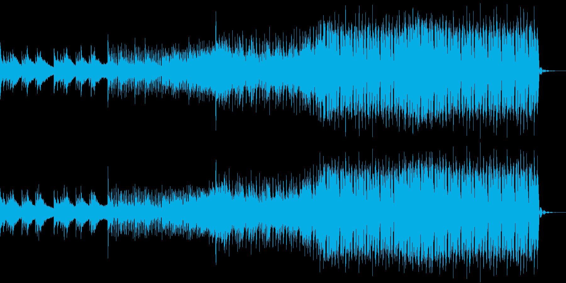 ポジティブだけど切ないEDMの再生済みの波形