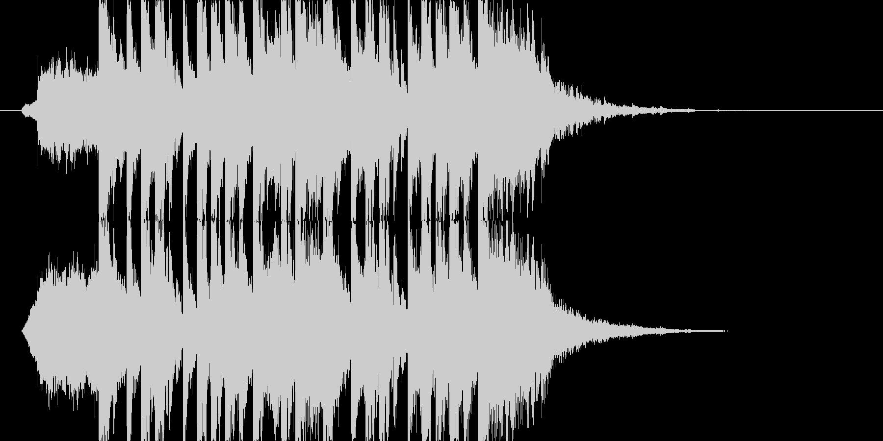 明るくポップなジングル ミディアム J1の未再生の波形