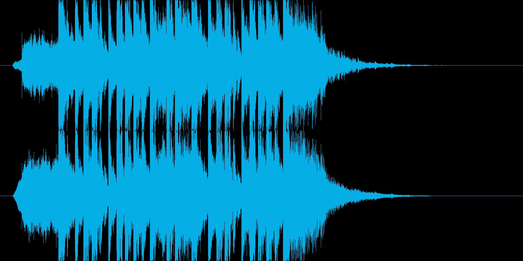 明るくポップなジングル ミディアム J1の再生済みの波形