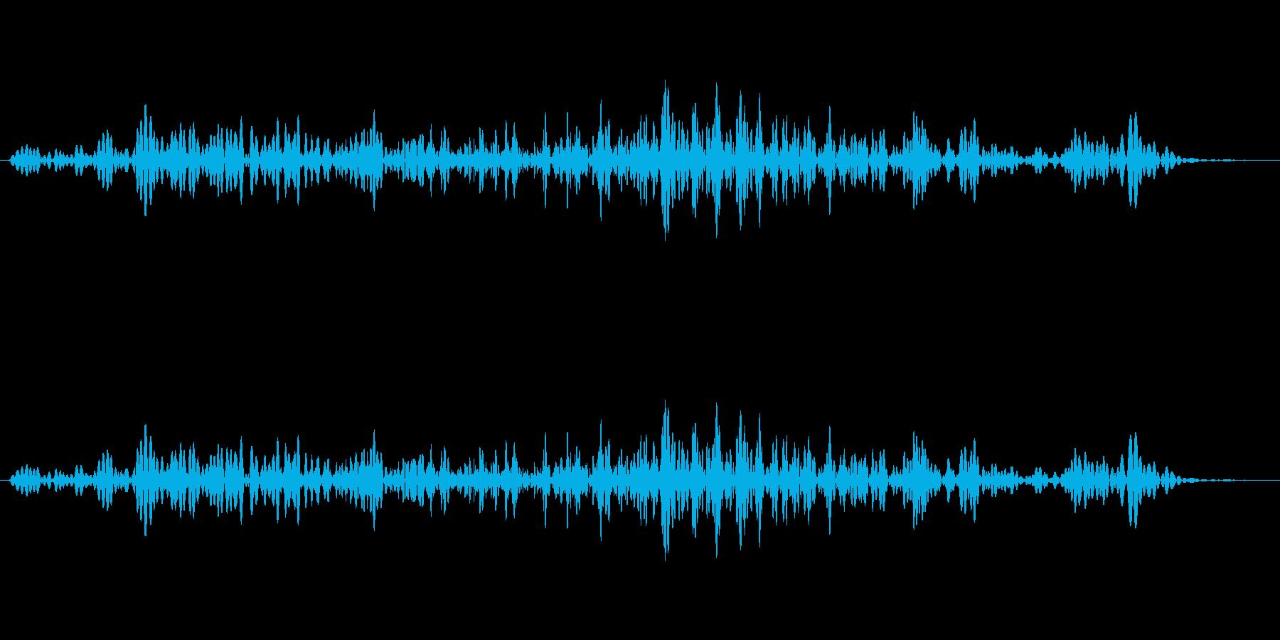 引き出しを開ける音の再生済みの波形