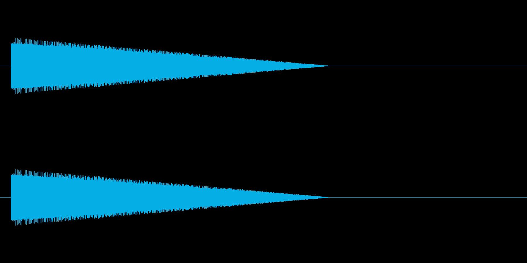 脱力・レトロゲーム風・コミカルな音#2の再生済みの波形
