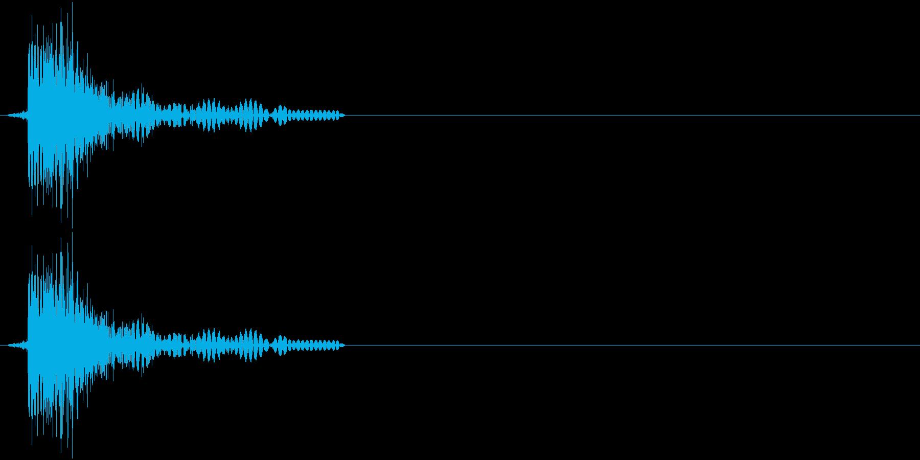 ジャン!(決定、アプリ、ゲーム)の再生済みの波形