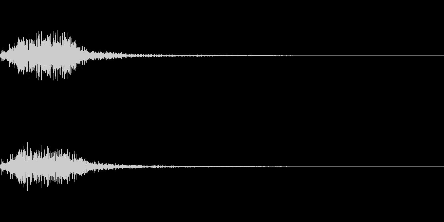 効果音 ホラー その1の未再生の波形