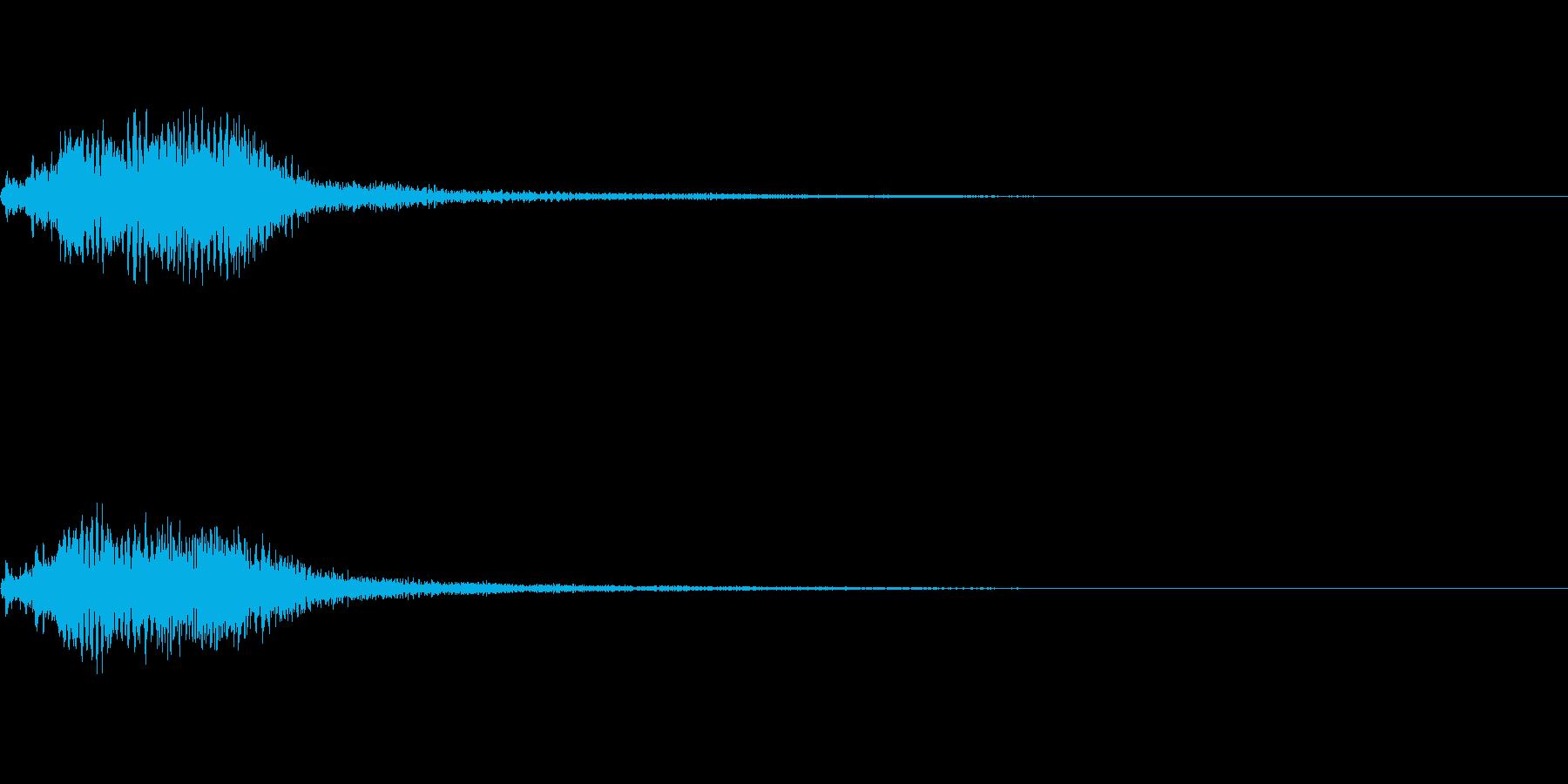 効果音 ホラー その1の再生済みの波形