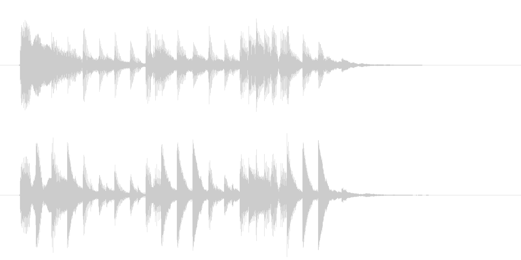 ミディアムテンポなテクノポップのジングルの未再生の波形