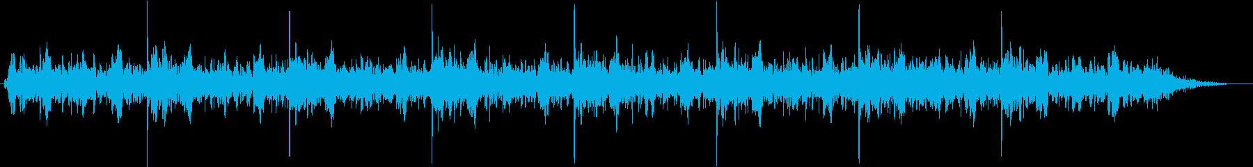 科学の実験の説明映像に使えそうなBGMの再生済みの波形