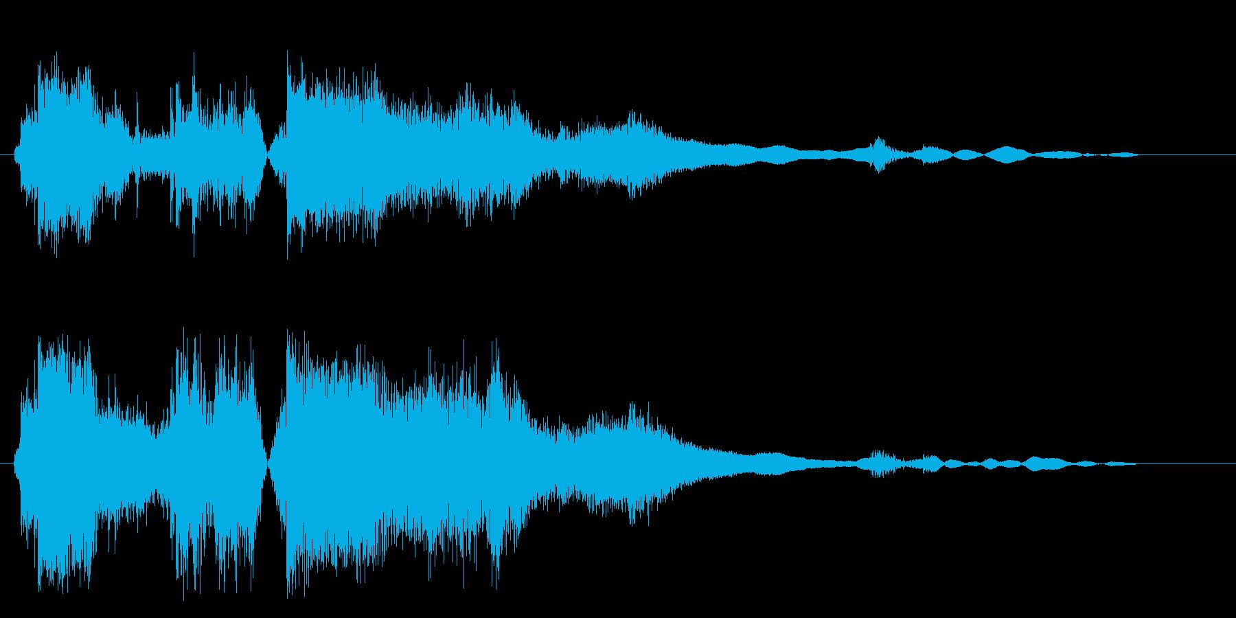 ガチャン(金属・ガラス音)の再生済みの波形