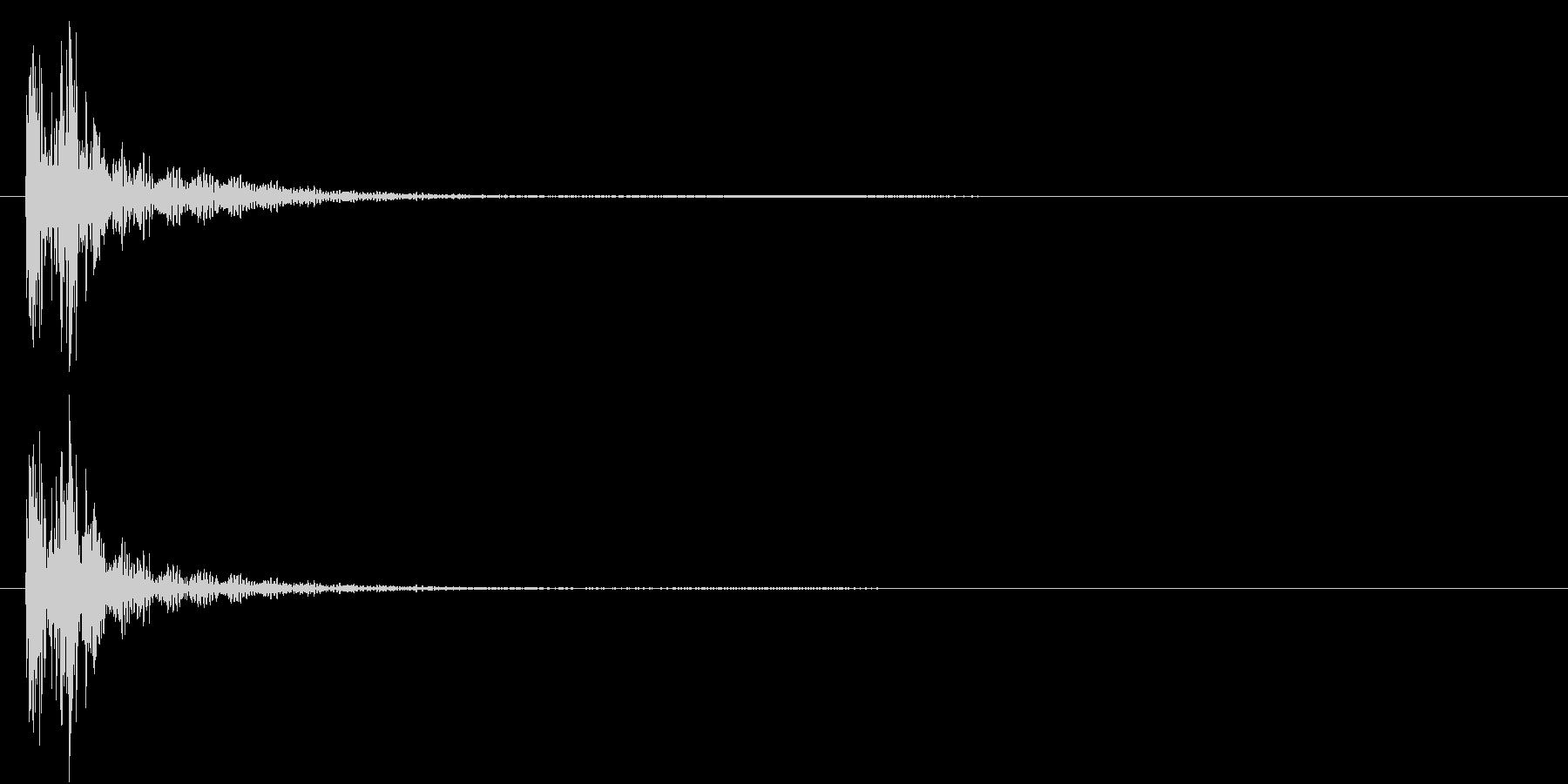 ドドンという太鼓音(場面転換)の未再生の波形