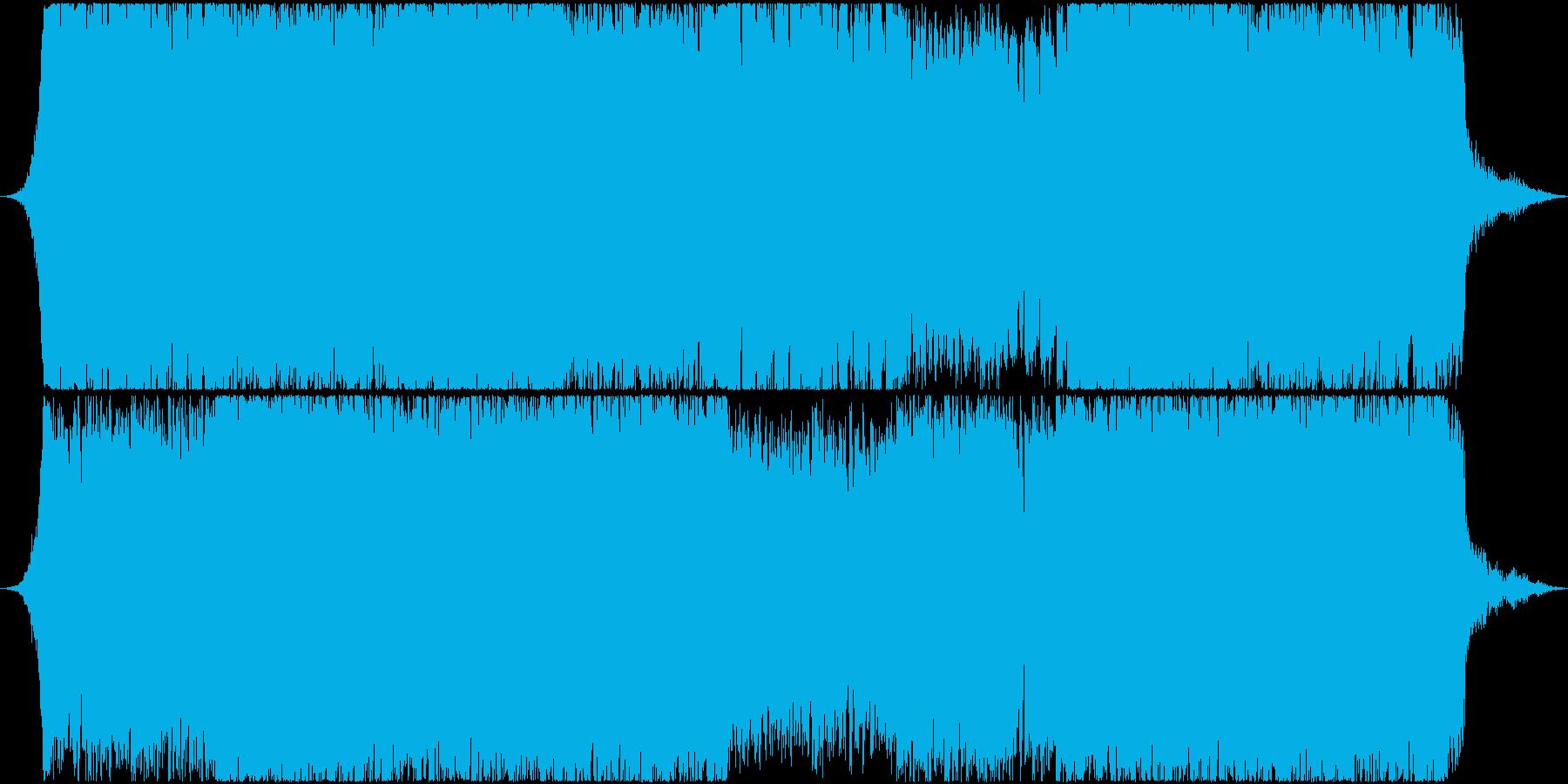 スリルや緊張感のある戦闘用BGMの再生済みの波形