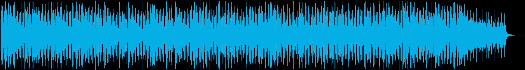 軽快で活気あるインフォメーション曲の再生済みの波形