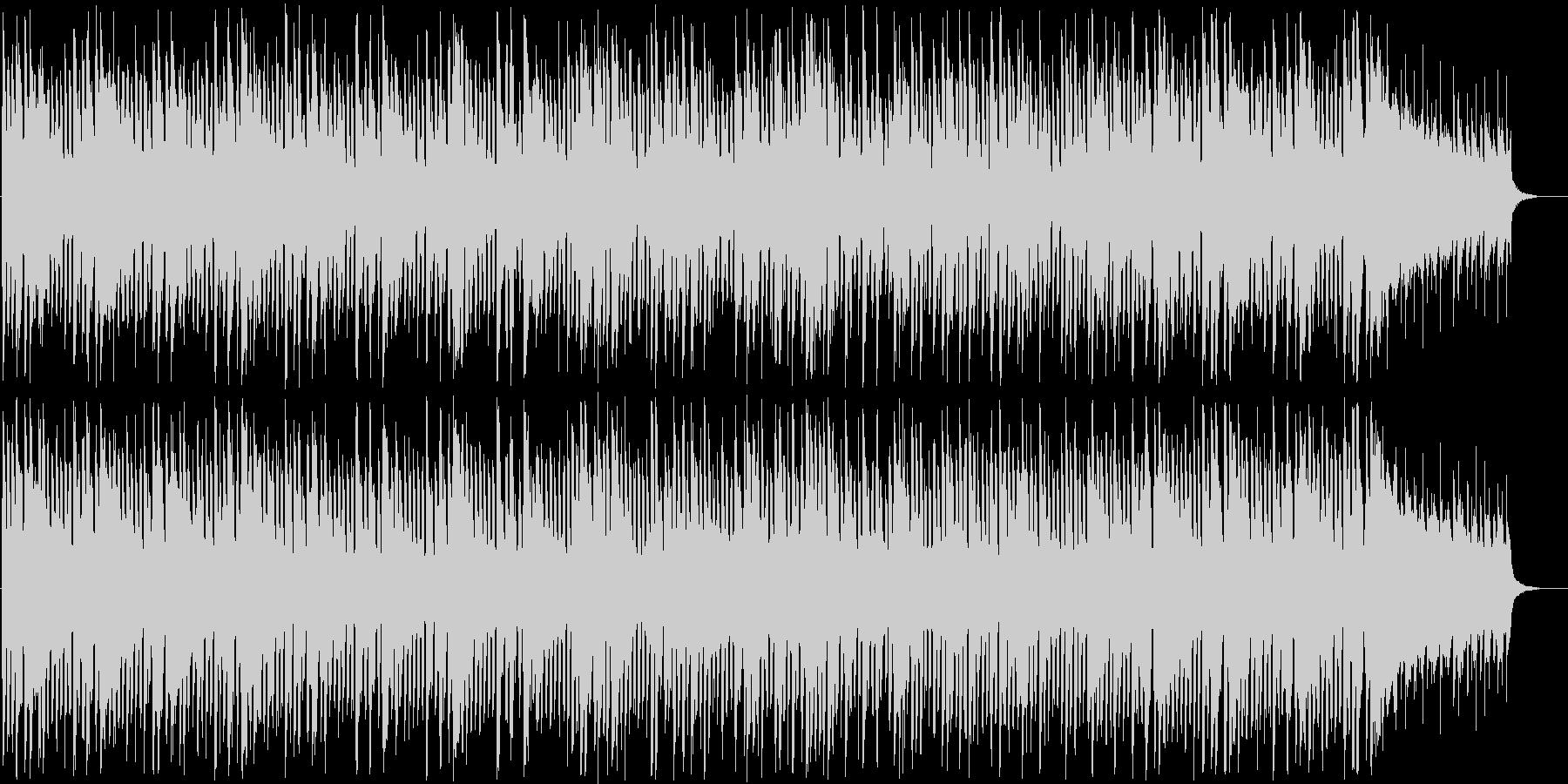 軽快で活気あるインフォメーション曲の未再生の波形