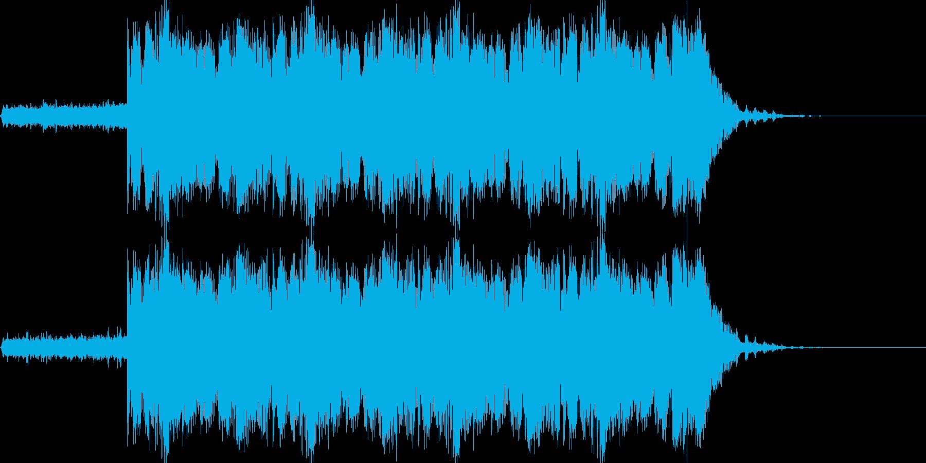 緊迫したシーンに最適シンセサウンドの再生済みの波形