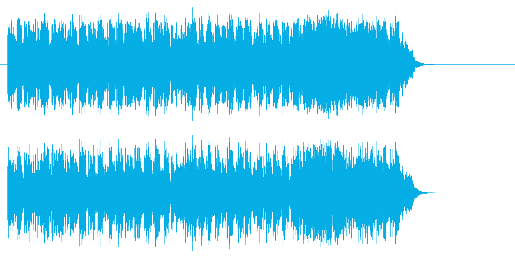 心を描くフュージョン(サビ)の再生済みの波形