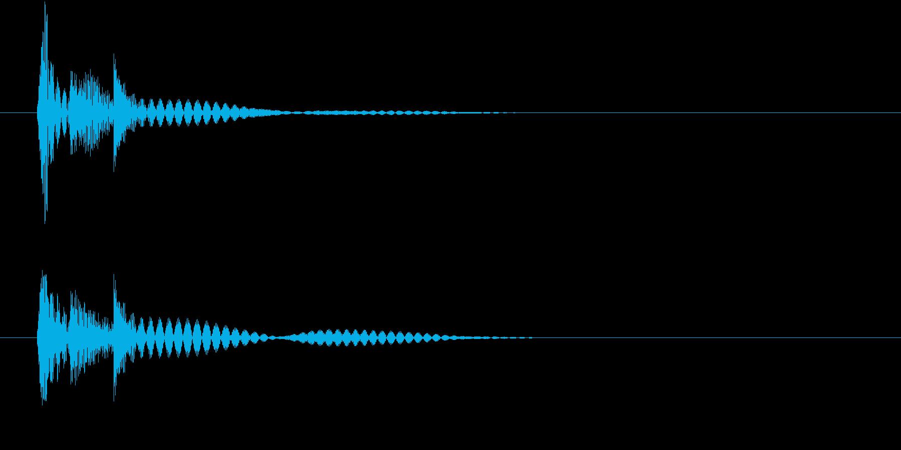 カーソル クリックの再生済みの波形