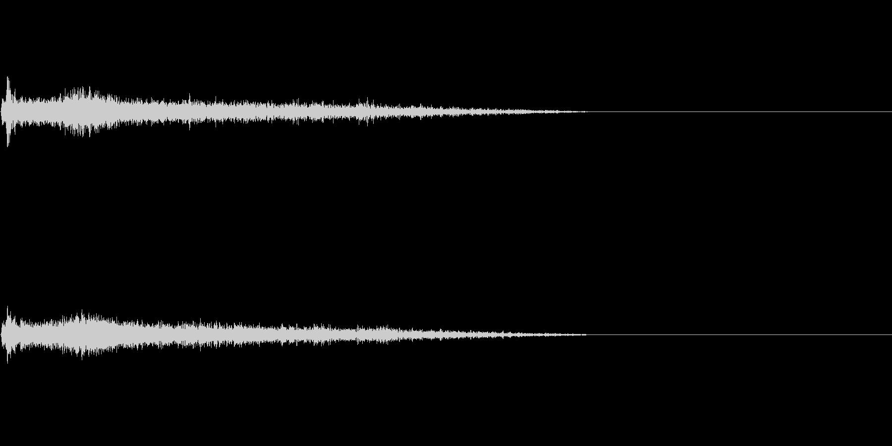 Eメジャー インパクト音 衝撃音の未再生の波形
