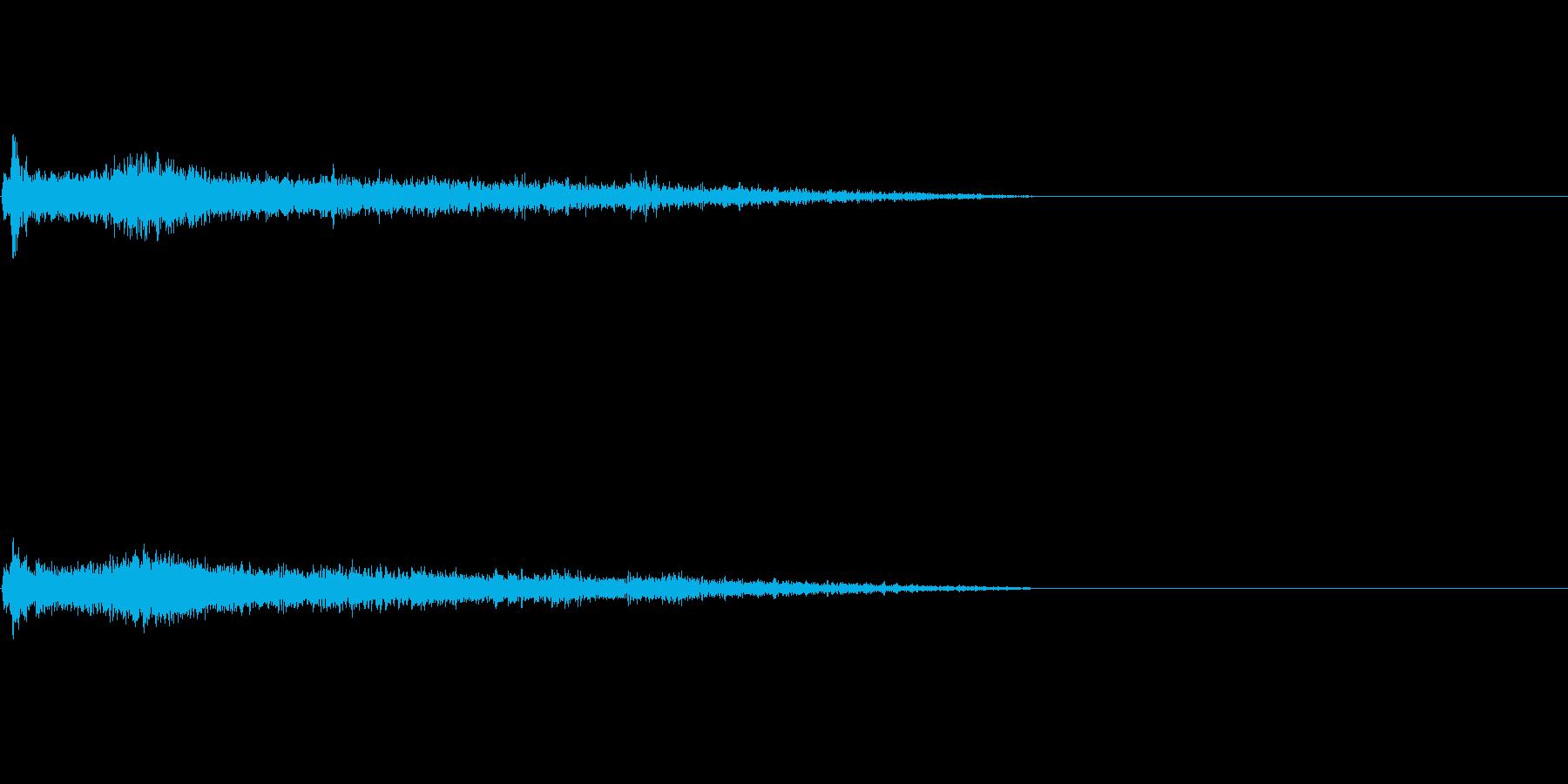 Eメジャー インパクト音 衝撃音の再生済みの波形