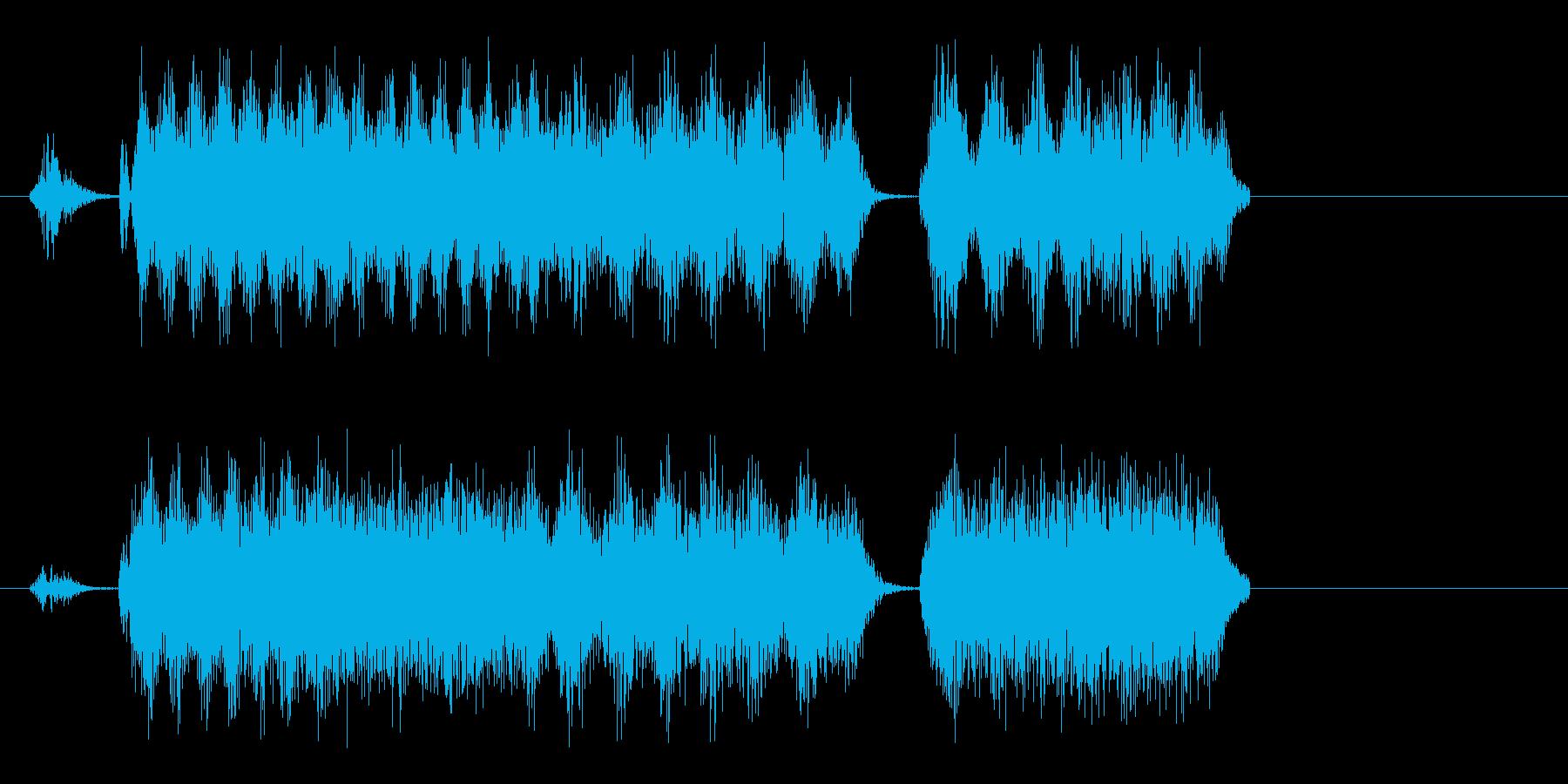 しゃしゃしゃ(重い空気を切り替えたい音)の再生済みの波形