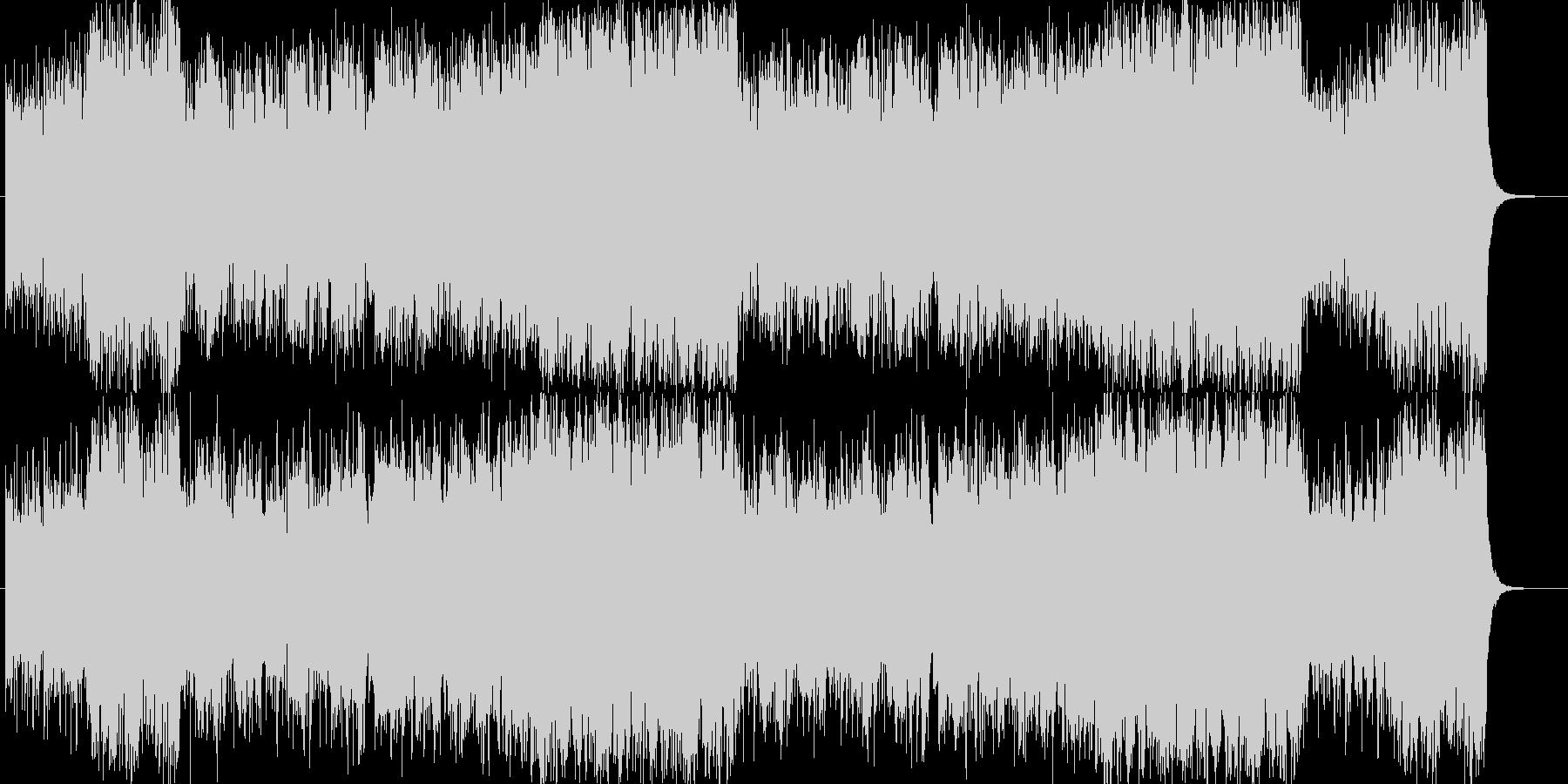 洋楽器で表現した和風曲の未再生の波形