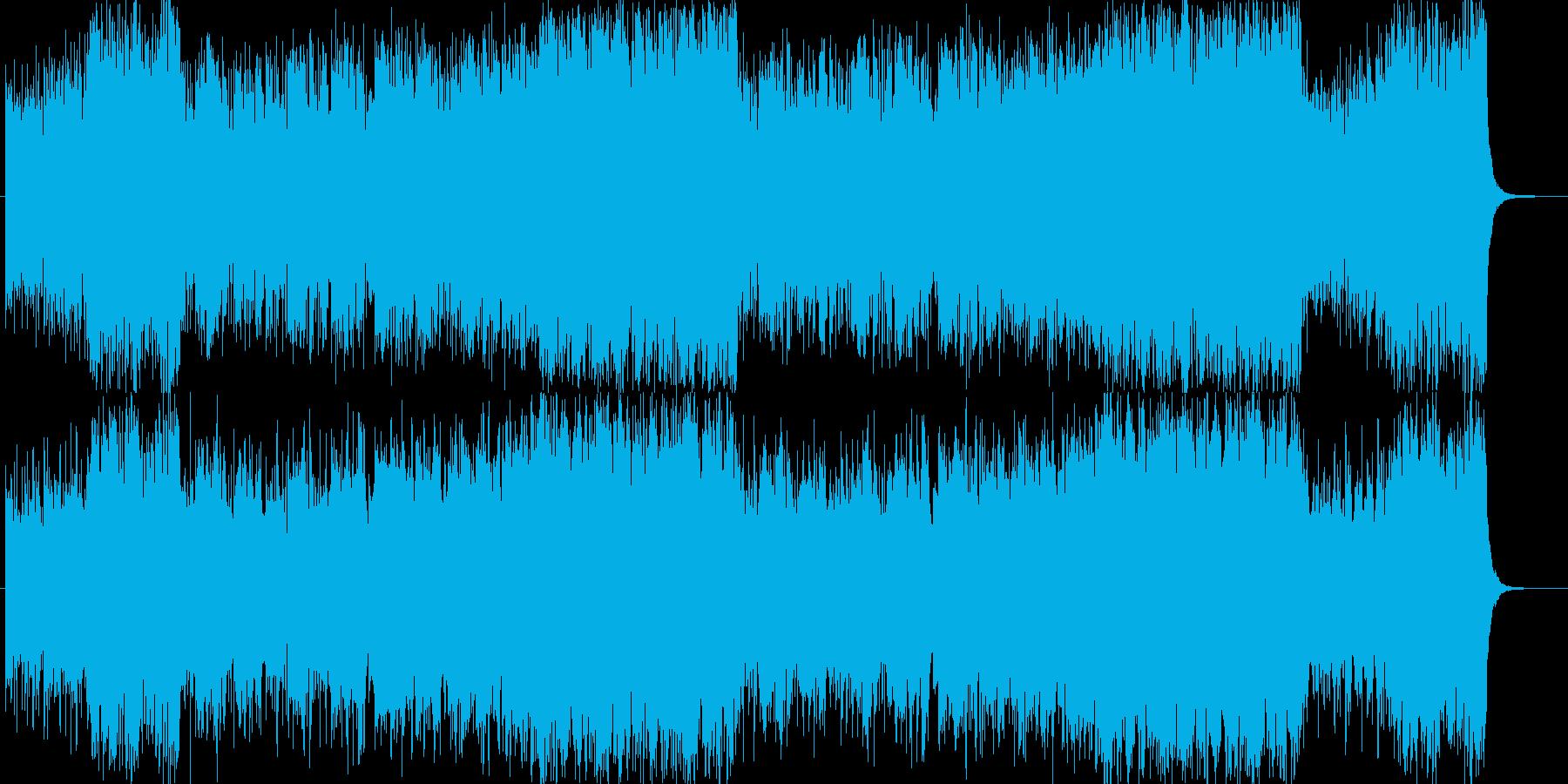 洋楽器で表現した和風曲の再生済みの波形