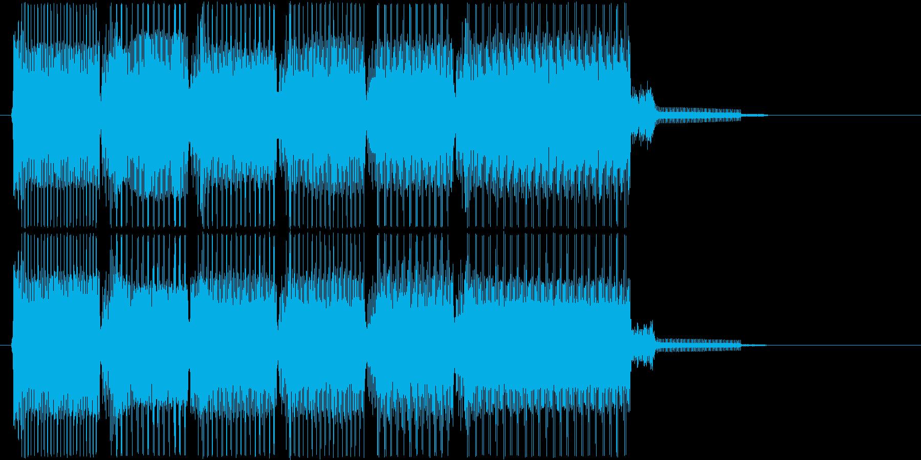 レトロなゲームオーバーBGMの再生済みの波形