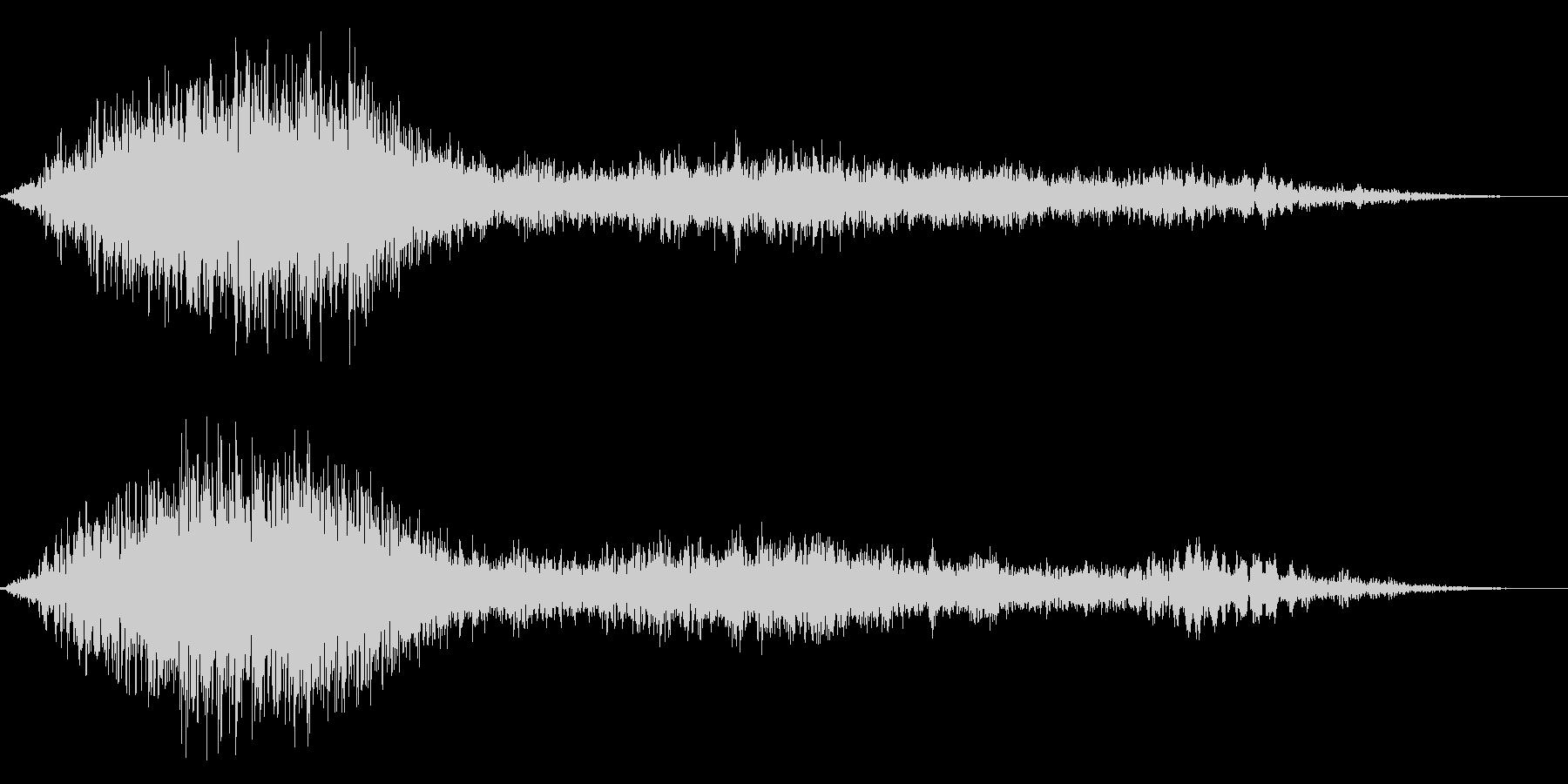 ゾンビのうめき声ウオォォ 尺長めの未再生の波形