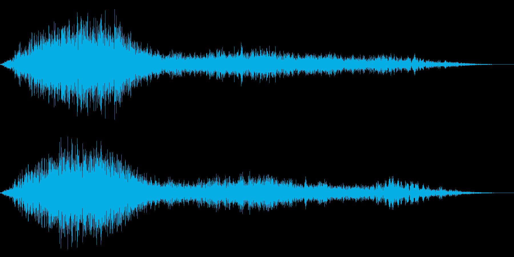 ゾンビのうめき声ウオォォ 尺長めの再生済みの波形