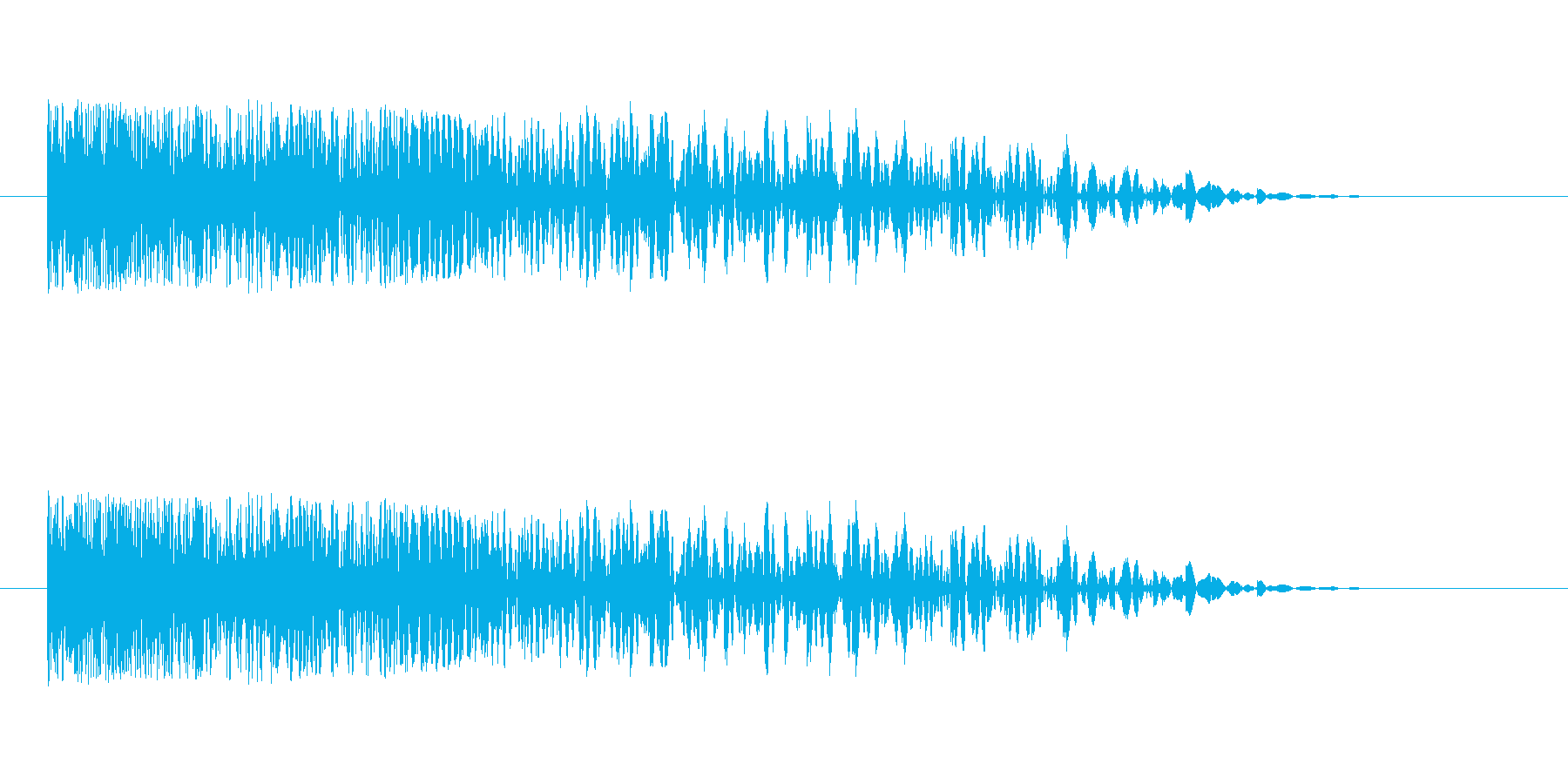 レトロな感じの爆発音ですの再生済みの波形