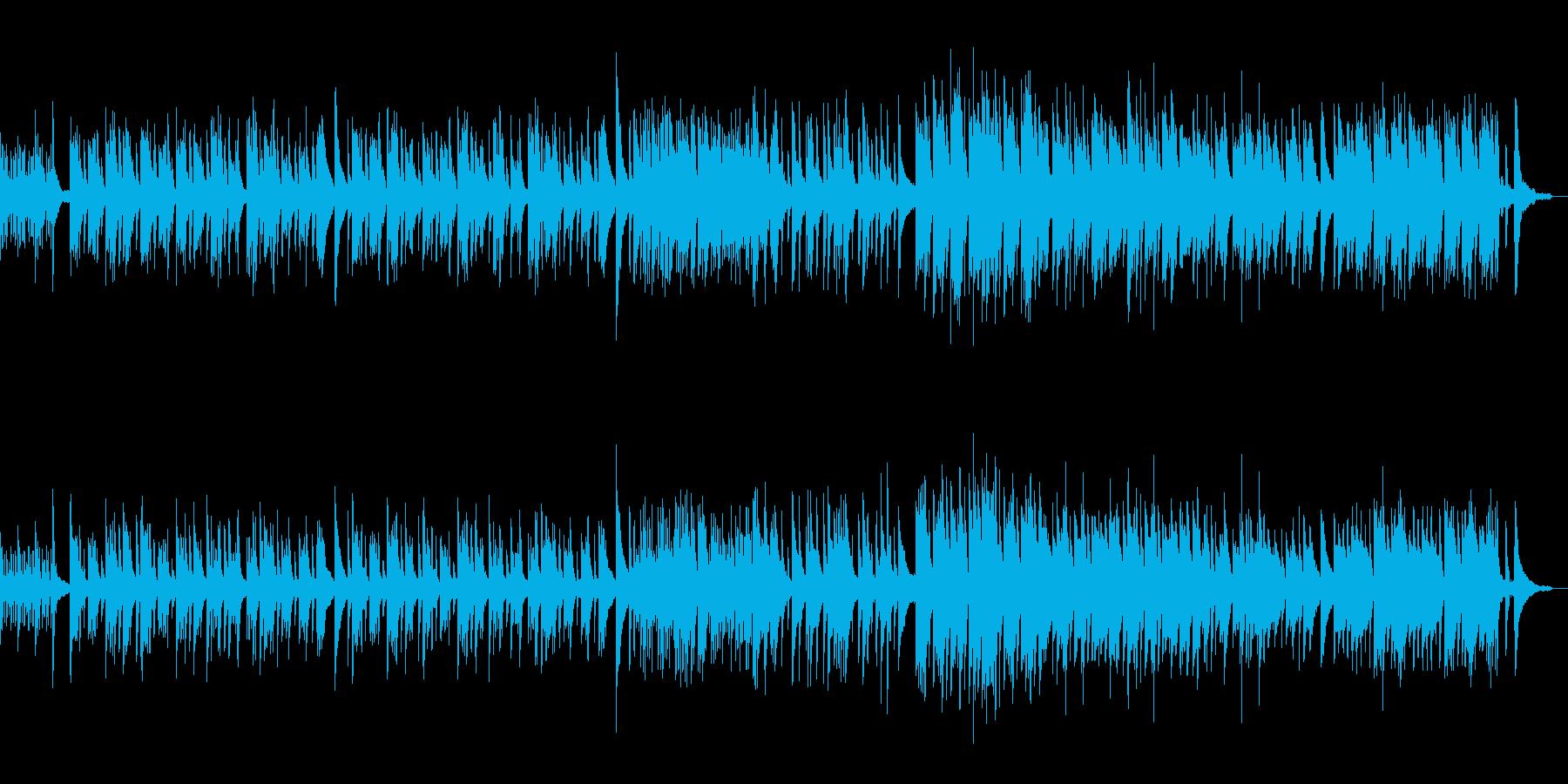 春の桜をイメージしたピアノサウンドの再生済みの波形