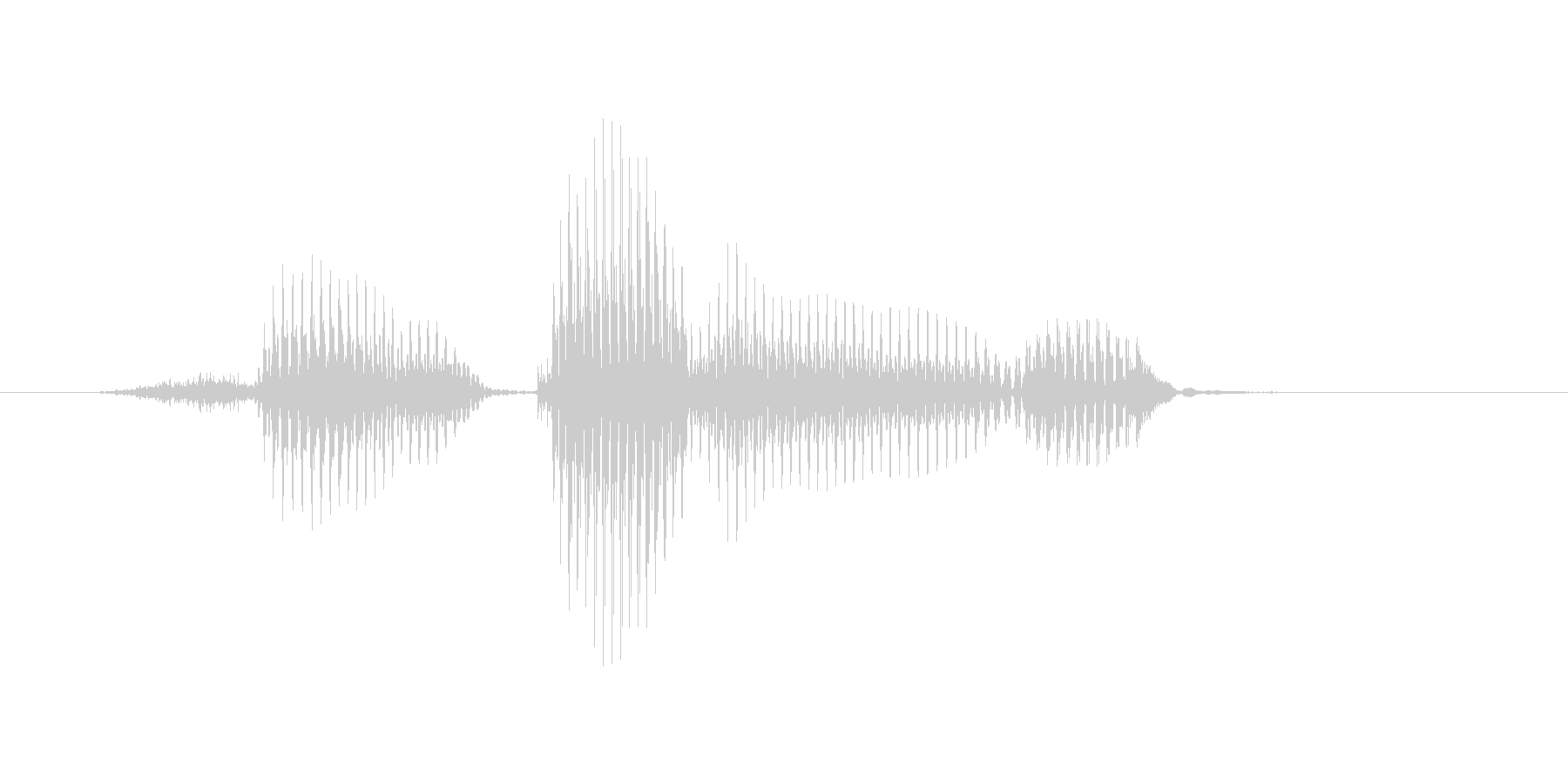 センタリングの未再生の波形