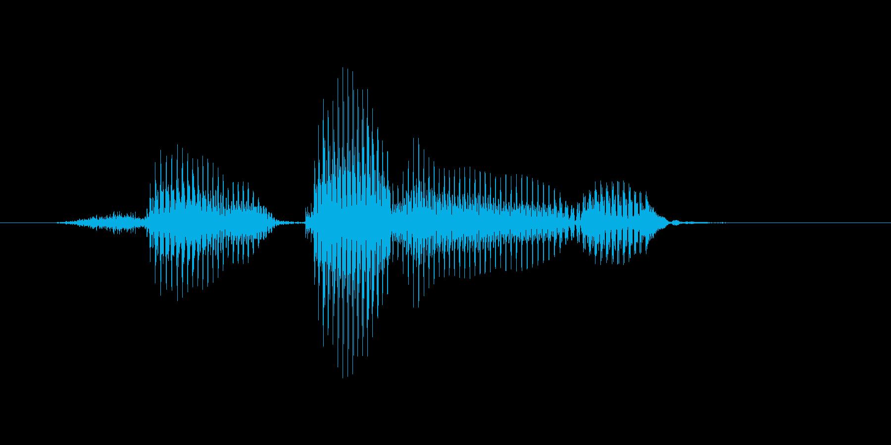 センタリングの再生済みの波形