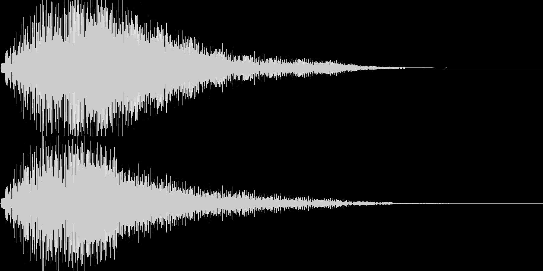 ポロロン(温かくオシャレなエレピ音)の未再生の波形
