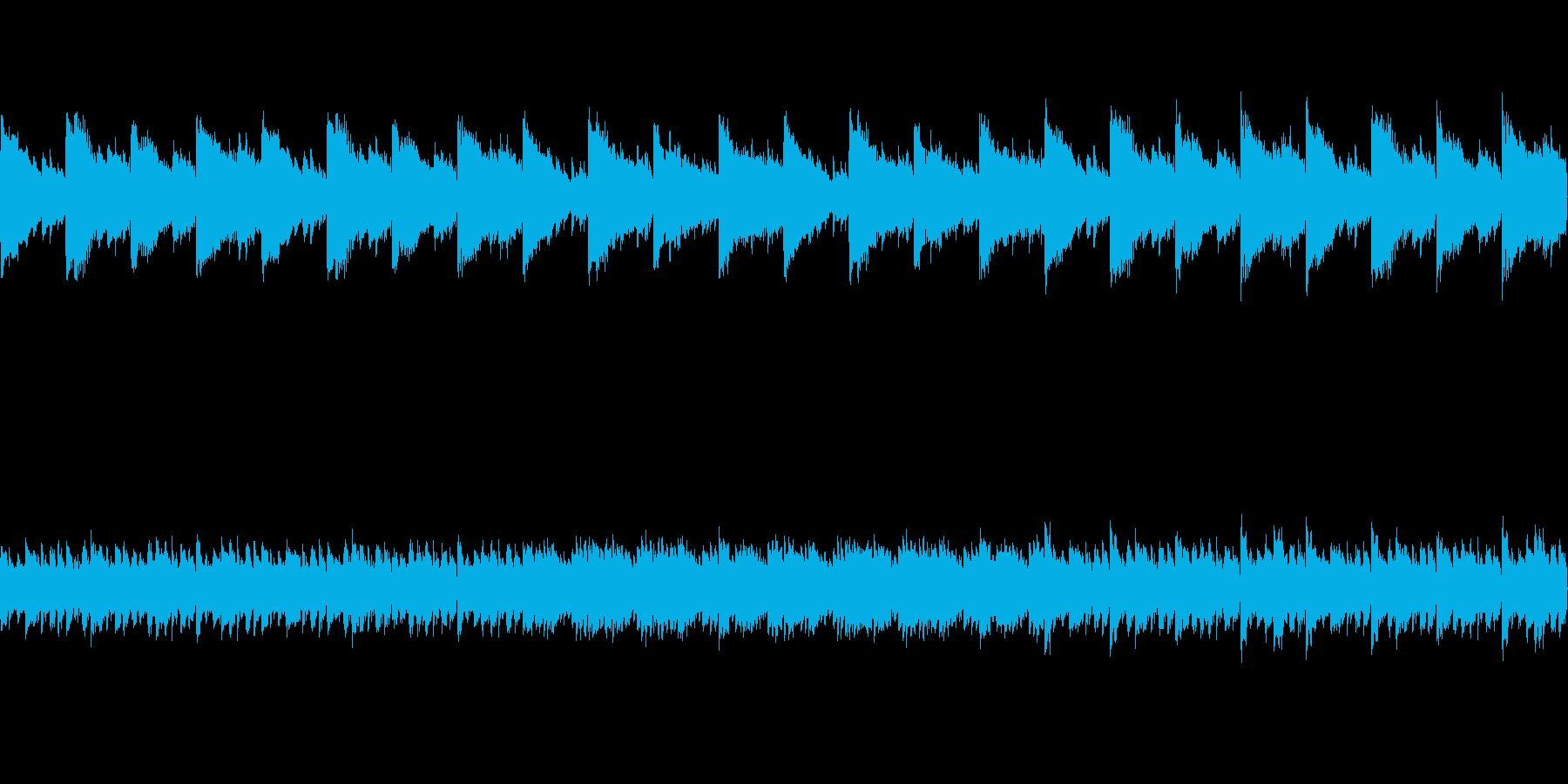暗い雰囲気のピアノ曲の再生済みの波形